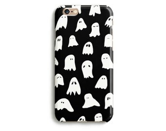 Ghosts White Black Phone Case iPhone 6 6s SE 5 5s Plus Samsung Galaxy Handmade Halloween Funny Cool Illustration Horror Meme Drawing Art
