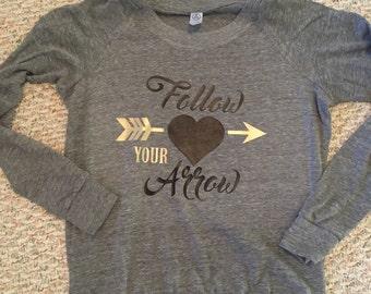 Follow Your Arrow slouchy pullover