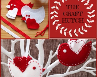 Valentine Love Bird - Sew Your Own Kit