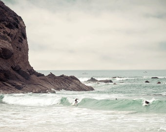 Dana Point Vintage Beach Surfer Photography Print Orange County Seascape Fine Art Wall Art Decor | Also Available on Canvas or Metal