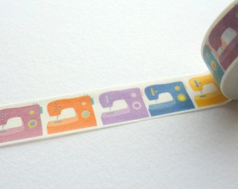Sewing Machine Washi Tape 15mm x 10m