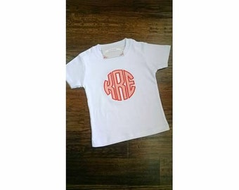 Circle Monogram Appliquéd TShirt