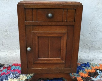 Night table deco solid wood 1930