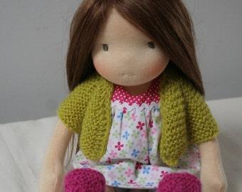 Kerri 13inch waldorf doll ,steiner doll, cloth doll,
