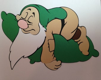 Snow White and the Seven Dwarfs Sleepy Die Cut