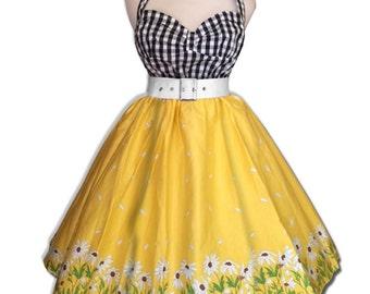 50's Summer Dress, Rockabilly Dress, Pinup Dress, Retro Dress