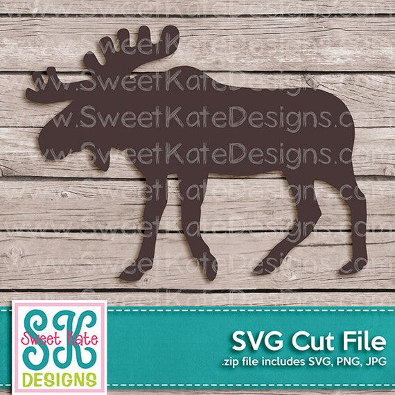 Moose Silhouette Svg Jpg Png Can Be A Scrapbook Die Cut Or