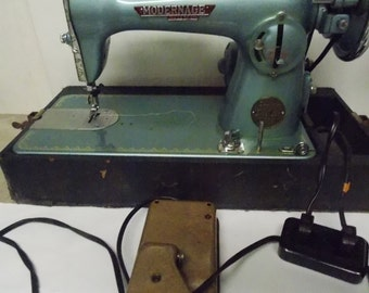 1950s Modern Age Precision Deluxe Model 202 Sewing Machine