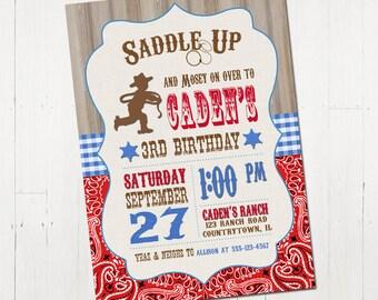 Cowboy Invitation - Cowboy Birthday Invitation - Printable Cowboy Invitation - Western Birthday Invitation - Wild West Party