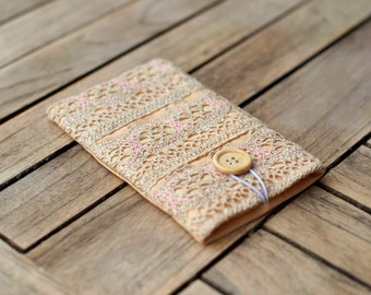Lace Kindle Paperwhite Cover, Rustic Boho, Amazon Fire Case, Tablet Oasis Case, Kobo Aura, Samsung Galaxy Case, iPod Padded Sleeve, iPad bag