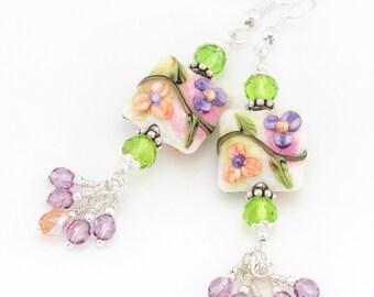"""Shop """"lampwork beads"""" in Earrings"""