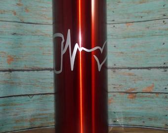 16 oz Coffee heartbeat Stainless Steel Travel Coffee Tumbler