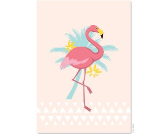 "Postcard ""Pink Flamingo"" - A6"