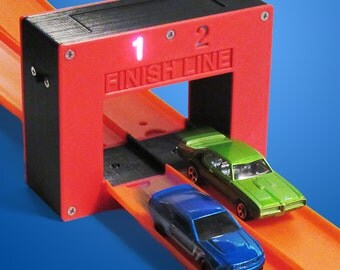 2-Lane Electronic Finish Line (For Hot Wheels Toy Cars & Track) Raceway Finish Gate