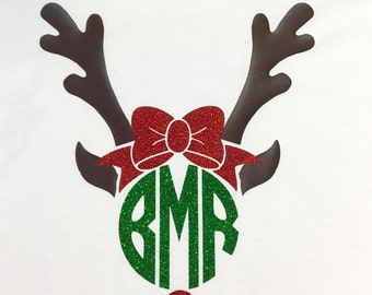 Preppy Reindeer Monogram Shirt