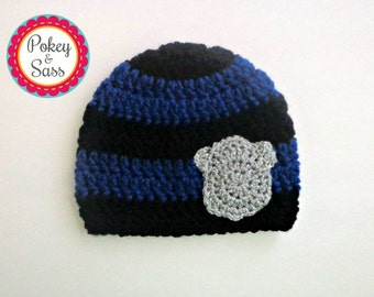 Police Baby Hat, Police Toddler Hat, Police Officer Hat, Beanie, Photography Prop, Badge, Photo Prop