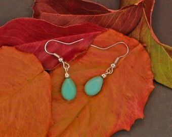 Turquoise Raindrop Dangle Earrings