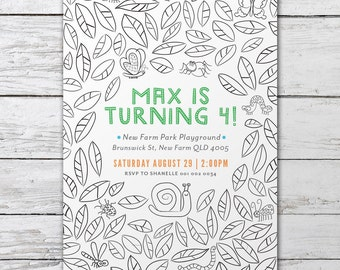 Bugs and Insects – Printable Custom Invitation – Boys Party