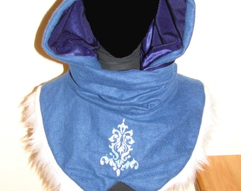 Blue Capine with fur - ready to wear