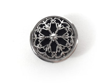 22mm Decoration button cap with 15mm snap button (201)