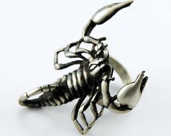Pewter Scorpion Ring