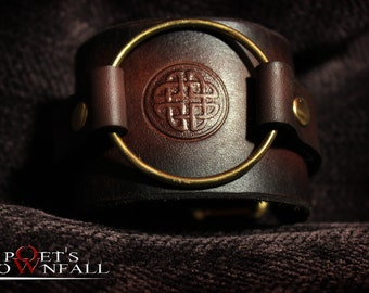 Leather Celtic Knot Wristband