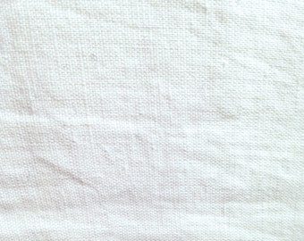 White Linen Cotton Blend Bottom-weight Fabric-By-The-Yard