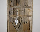 Shabby Chic Distressed Driftwood Wall Cabinet  Reclaimed Wood
