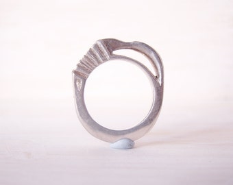 Handmade sterling silver statement ring- size 8 (US) - original