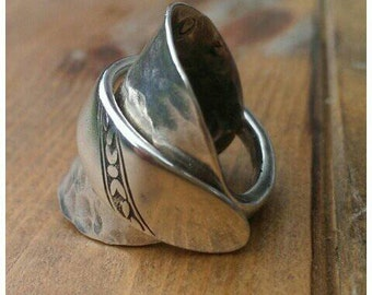 Vintage silver plated spoon Ring - Jewellery