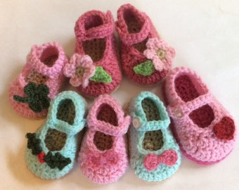 Instant Download: Mary Jane Baby Shoes Crochet Pattern