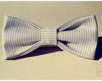 White Mens Bow Tie -FREE SHIPPING - Limited Edition - Handmade Bowtie - Grooms Bow Tie - Luxury Mens Gift - Pre-Tied