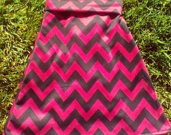 Girls and Toddlers Maxi Skirt  Red and Black Chevron