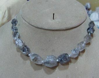 1 Strand  Herkimer Diamond quartz Rough  beads 8''  24, grams  9X13, 15X20  MM