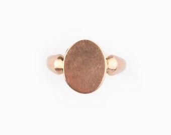 A Victorian/Edwardian Locket Ring, 9ct Rose Gold