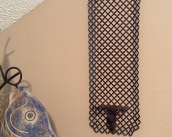 Punched Metal Sconce - MCM Wall Art