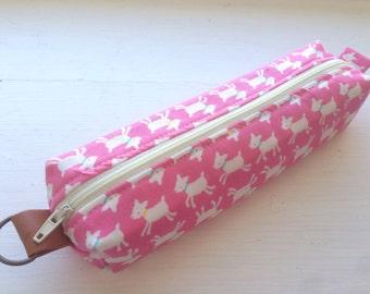 Sweet Goats Pink Pen Case