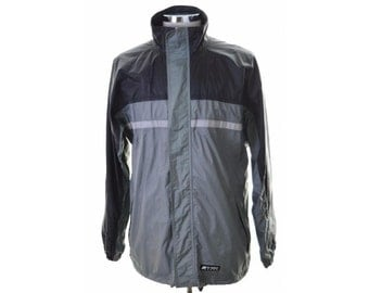 K-Way Mens Windbreaker Jacket Medium Grey Black