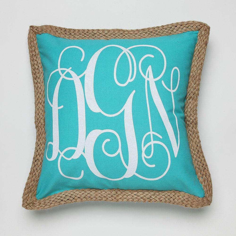 Monogram A Pillow: 3 Letter Monogram Pillow-Monogrammed Pillow-Monogram