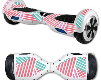 Skin Decal Wrap for Self Balancing Scooter Hoverboard unicycle Pastel Stripes