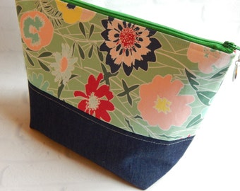 Cosmetic Bag, Makeup Bag, Make up Bag, Bridesmaid Gift, Travel Bag, Toiletry Bag, Zipper Pouch, Gift for her, Large Cosmetic Bag