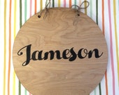 "PRIVATE LISTING | ""JAMESON"" Hanging Wood Round"
