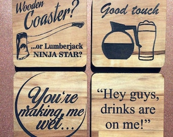 Life Of the Party | Wood Coaster Set (4x Pack)