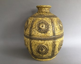 Jasba Keramik  vintage Mid Century Modern, Rare  1960s ceramic vase  -   West Germany Pottery WGP.