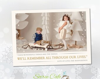 Elegant Holiday Photo Card | Christmas Card | Printable Card {Digital File}