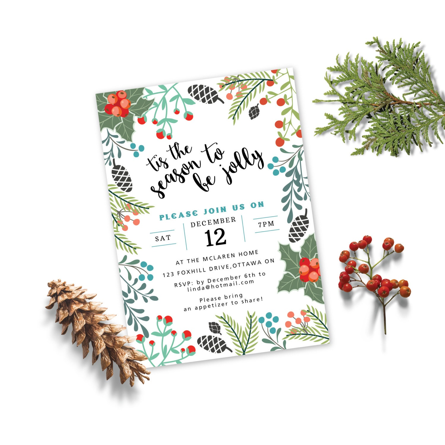 holiday party invitation christmas party invitation christmas holiday party invitation christmas party invitation christmas invite printable holiday invitation woodland holiday invite