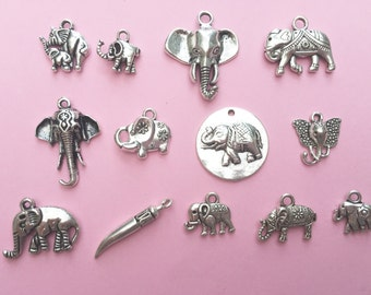 The Elephant Charm Collection Antique Silver - CC013S