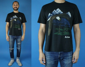 Vintage 90s 80s American Bald Eagle Arizona Tshirt, Soaring Eagle Shirt, Vintage Arizona Tee, 90s, size Medium