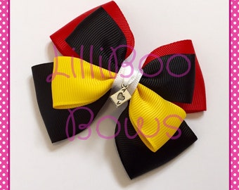 Handmade Queen of Hearts Alice in Wonderland Inspired Hair Bow