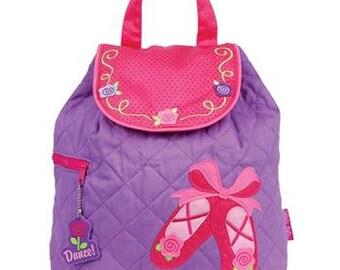 Stephen Joseph Ballet Shoes Children's Backpack, Monogram, Personalized Ballet Backpack, Preschool Backpack, Toddler Backpack, Diaper Bag